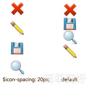 icon-spacing